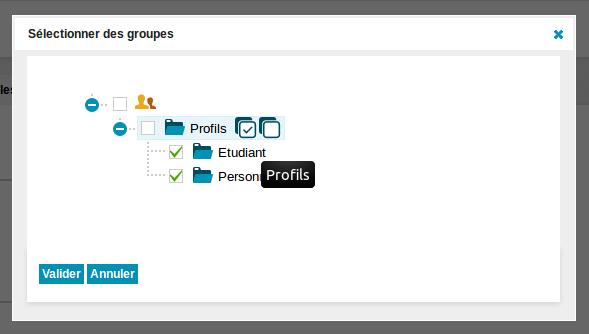Sélection Multiple de groupes pour un utilisateur